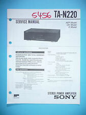 Service Manual für Sony TA-N220   ,ORIGINAL