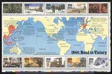 EE. UU. 1994 aviones de la Segunda Guerra Mundial// se envía ejército// Camión/submarinos/Militar/transporte 10v (n25207)