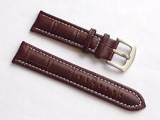 Quality Lug 22mm Brown Genuine Leather Alligator Strap Replacement Men's Nautica