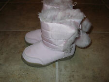 GIRLS SIZE 6 PINK FURRY BOOTS **MUST SEE** SO CUTE!!!!