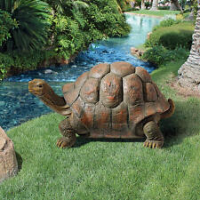 Delightful Wide Eyed Turtle Slower Pace Tortoise Reptile Garden Statue 26""
