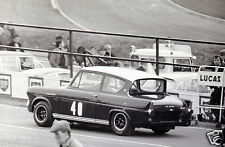 FORD ANGLIA BROADSPEED PHOTOGRAPH SALOON CAR RACER AT SPEED #40