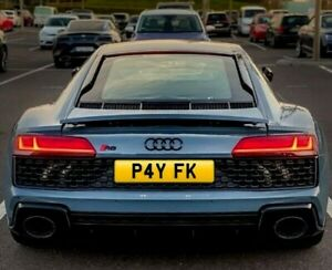 PRIVATE NUMBER PLATE (PAY F@CK ) SERIOUS OFFERS WELCOME/RUDE FUNNY REG(P4 YFK!!)