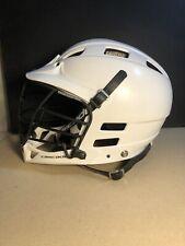 White Cascade Lacrosse Helmet. Black Cage