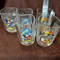 McDonalds Walt Disney World Year 2000 Celebration Glasses Set of 5 Mickey Mouse