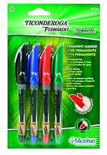 Ticonderoga RediSharp Permanent Markers, Fine Point, Set of 4 Markers