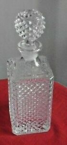 square, cut glass crystal whisky decanter