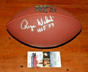 ROGER WEHRLI Signed NFL Wilson Full Sized Football-CARDINALS-HALL of FAME-JSA