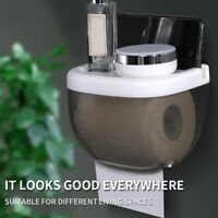 Bathroom Roll Paper Towel Dispenser Wall Mount Coreless Toilet Tissue Container