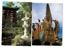 4 Bali Postcards Water Temples at Mengwi other temples. Unused Indonesia