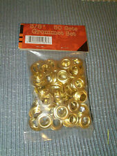"""50 Sets 3/8"""" Grommets Use for Tarps Canopies Sealed in Original Package  New"""