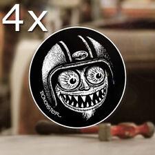 4x Stück BOMONSTER Avatar Sticker Aufkleber Old School Rat Fink Hot Rod 50mm