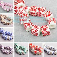 New Charms 10pcs 10mm Flowers Pattern Ceramic Porcelain Loose Spacer Beads