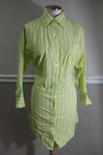 ELIZABETH AND JAMES Women's Green Pinstriped Button Up Shirt Dress Size XS (DR90
