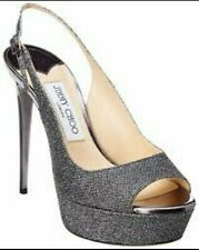 Jimmy Choo Selma Zapato Negro Brillo Uk3 36