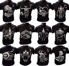 Horror Scope T-Shirt star sign quirky gift gothic eerie burton Horoscope present