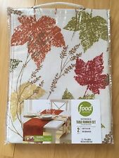 New Food Network Reversible Table Runner Set Fall Leaf Set Of Two Leaves Autumn