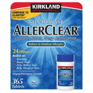 Kirkland Aller-Clear Allergy Loratadine 10mg 365 Tablets