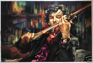 Sherlock Holmes Benedict Oil Painting Hand-Painted Art Canvas NOT a Print 24x36