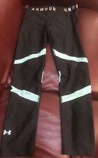 Under Armour Women's Heatgear Compression leggings, Black/Light Blue, Size M