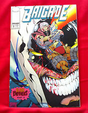 BRIGADE #2 EMBOSSED FOIL COVER ISSUE SIGNED BY ARTIST ROB LIEFELD
