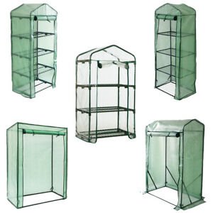 Greenhouse Outdoor Garden Grow Bag Green House with Shelves and Greenhouse Cover