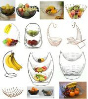 Fruit Basket Bowl 2 in 1 Banana Hook Tree Hanger Stand Dinning Table Storage New