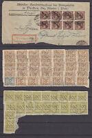 DR - Drei große Briefstücke aus der Inflationszeit [89 Marken] - bitte ansehen !