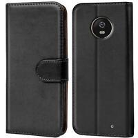 Book Case für Motorola Moto X4 Hülle Tasche Flip Cover Handy Schutz Hülle