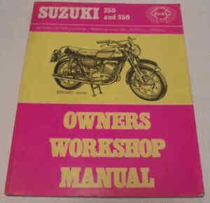 Suzuki 250 & 350 Twins 1964-c1973 Haynes Workshop Manual T20 T250 T305 T350