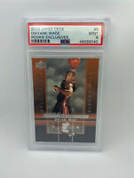 2003 Upper Deck Rookie Exclusives Dwayne Wade #5 Rookie Card RC PSA 9 Mint! HOF!