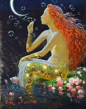 Mermaid 24X36 inch Poster, wall decor, wall art, painting
