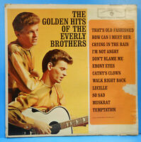 GOLDEN HITS OF THE EVERLY BROTHERS LP '62 MONO ORIGINAL NICE CONDITION! VG/G+!!A