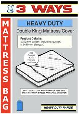 250 Gauge Heavy Duty Double / King size Mattress Bag for Protection Moving House
