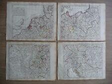 Rare - Ensemble de 4 cartes : l'Empire d'Allemagne - Atlas Herisson, 1806