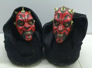 Star Wars Darth Maul novelty slippers XXL 4-5 youth black