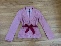 New Free People Women sz 4 Peach Red color pin-stripe wrap blazer jacket