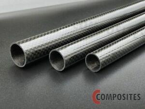 Sichtcarbon-Rohr Ø 1 bis 20 mm - Länge 1000 mm CFK-Rohr gewickelt glänzend