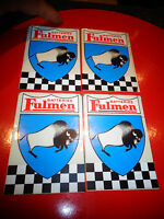 Ancien Autocollant des Batteries d'Accumulateurs FULMEN et son Bison (lot de 4)
