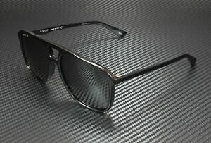 GUCCI GG0262S 001 Black Rectangle Men's Sunglasses 58 mm
