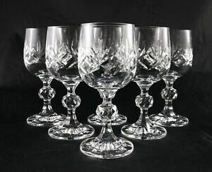 6 stunning vintage lead Crystal shot liqueur spirit glasses