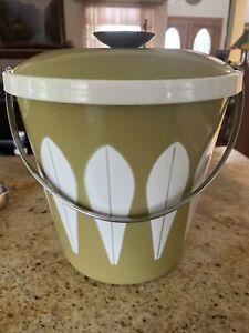 VTG Avocado Green Catherineholm Catherine Holm Lotus Enamelware Ice Bucket