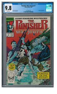 Punisher War Journal #7 (1989) Classic Jim Lee Wolverine Cover CGC 9.8 ZZ038