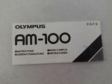 NOTICE MODE D'EMPLOI COMPACT OLYMPUS AM-100  FRANCAIS ENGLISH GERMAN ESPANOL