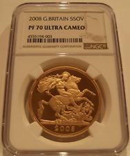 Great Britain 2008 Gold 5 Pounds NGC PF-70UC