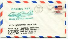 1977 Boeing 747 Space Shuttle Aircraft Delta Integrated Check Out Edwards USA