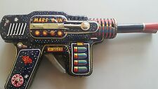VINTAGE MARS GUN JAPAN H-2569 2 BARREL TIN TOY SPACE RAY ASTRONAUT COSMONAUT