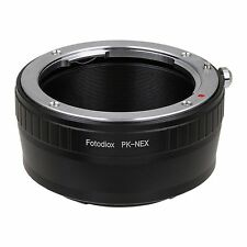 Fotodiox Objectivement Adaptateur (Lens Mount), Pentax K/PK sur Sony Alpha NEX E-Mount