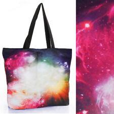 2018 Women Big Bang Space Shoulder Print Galaxy Handbag Laptop Shopping Bag OS