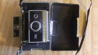 Vintage Polaroid Land Instant Camera Model 335 w/case.  Untested, for parts